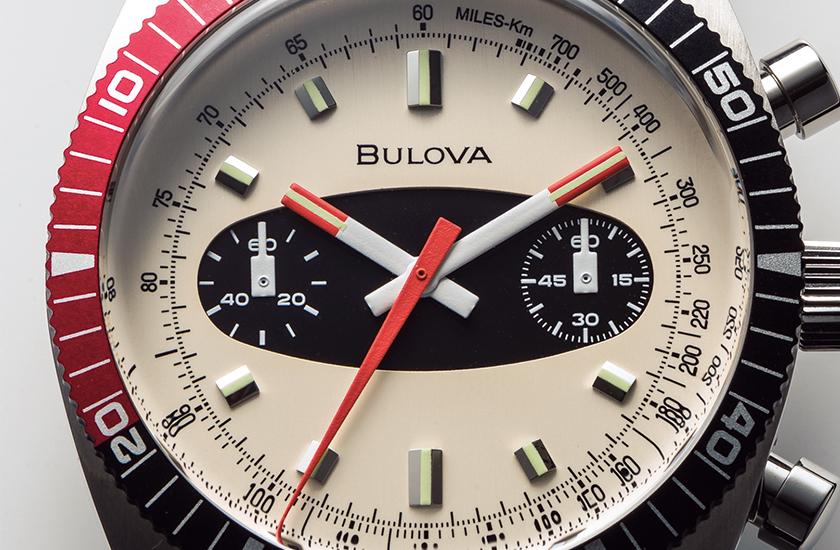 "BULOVA ブローバのアーカイブス シリーズ クロノグラフA""サーフボード"""