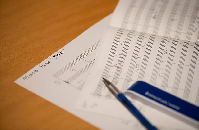 MOLESKINE モレスキンのミュージックノート ステッドラーの製図用ペン