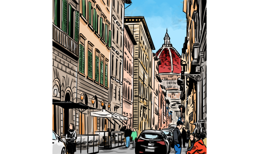 フィレンツェの街