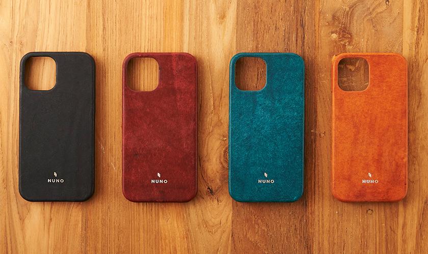 simplism シンプリズムのiPhone 12/12 Pro [NUNO]本革バックケース