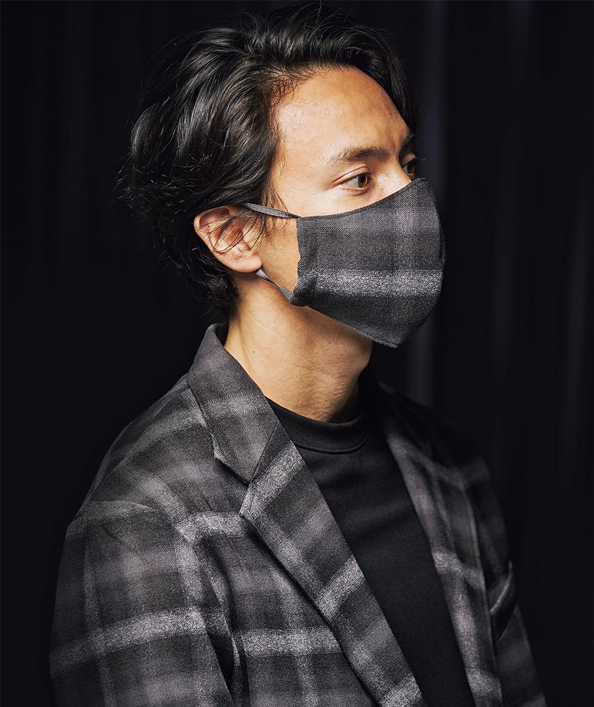 melple メイプル 別注SOLOTEX オンブレチェック Beach Tailor 2Bジャケット・パンツ・マスク
