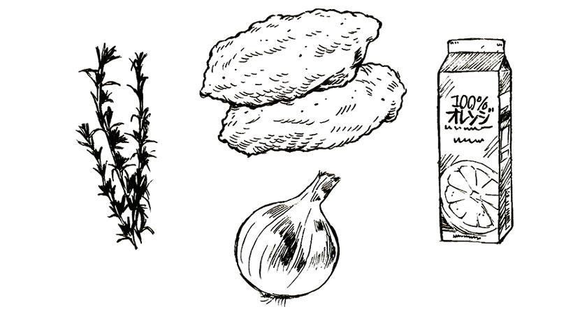 TRANGIA トランギア メスティン オレンジローズマリーチキン レシピ