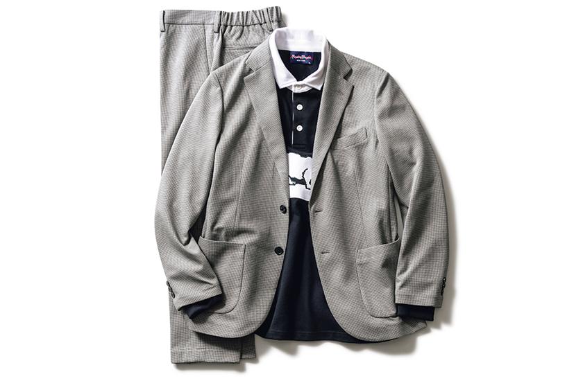 セットアップ+ラガーシャツ