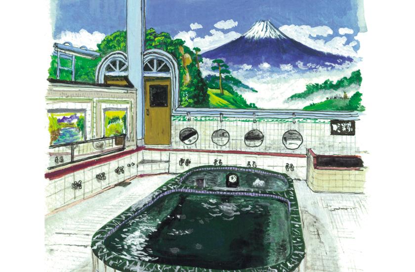 富士山のペンキ絵 町田 忍さん