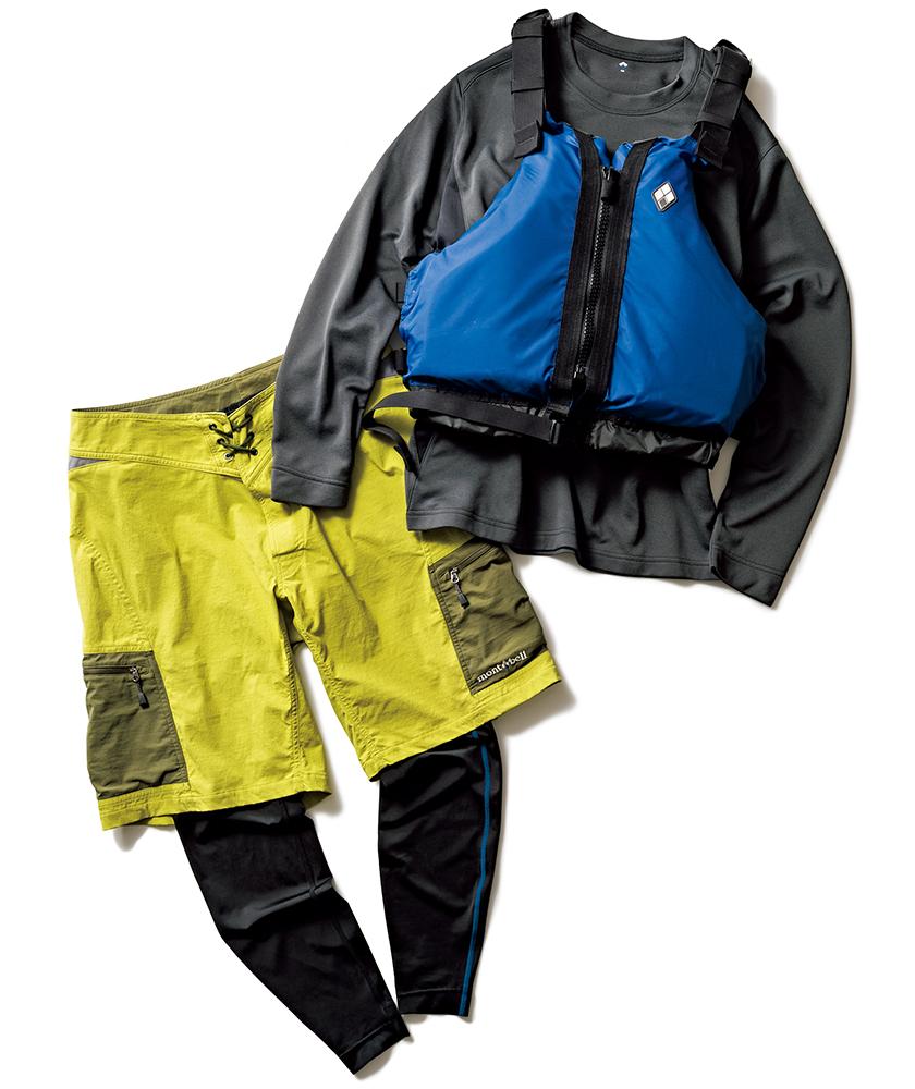 mont-bell モンベル ロングスリーブTシャツ&パドリングトランクス&タイツ