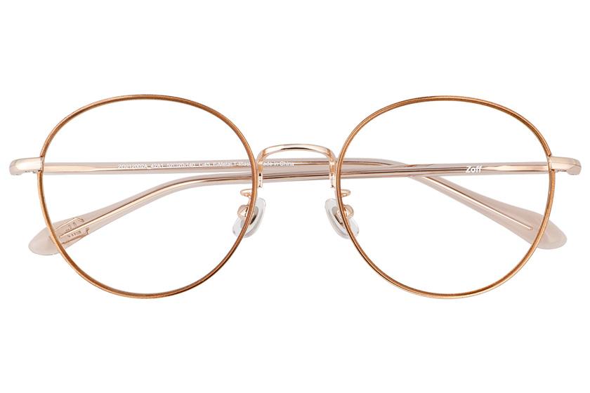 ゾフの最新メガネ「クラシック リンクコレクション」メタルフレームのラウンド型