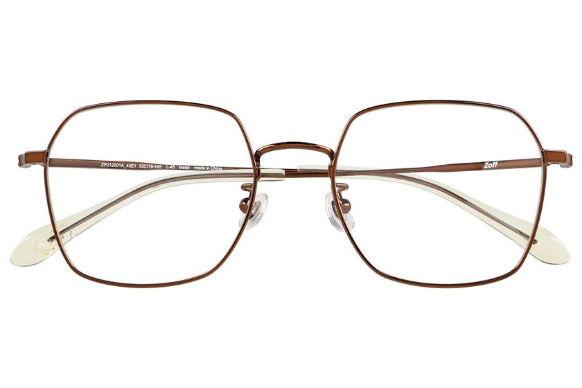 ゾフの最新メガネ「クラシック リンクコレクション」メタルフレームのヘキサゴン型