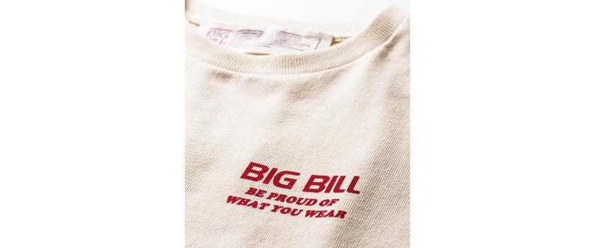 BIG BILL ビッグビルのバックフロッキーTee