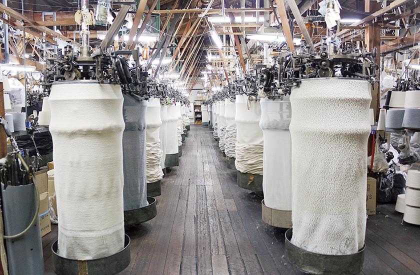 旧式の吊り編み機