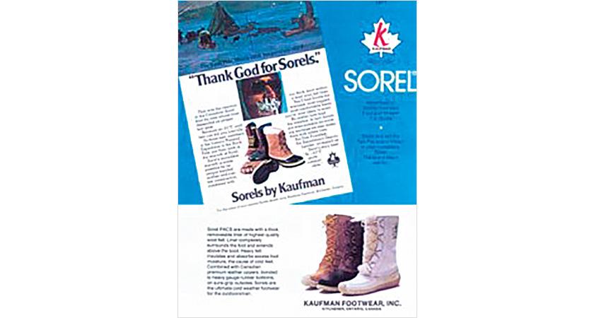 SOREL ソレルのカリブー 広告