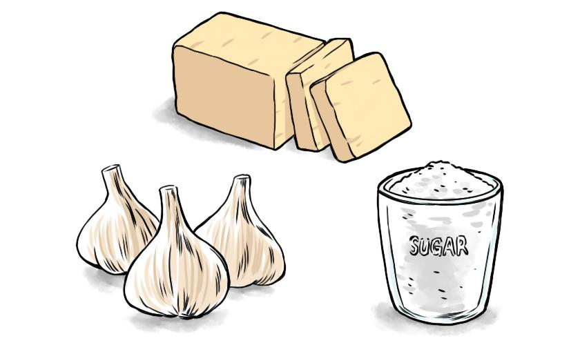バターとにんにくと砂糖