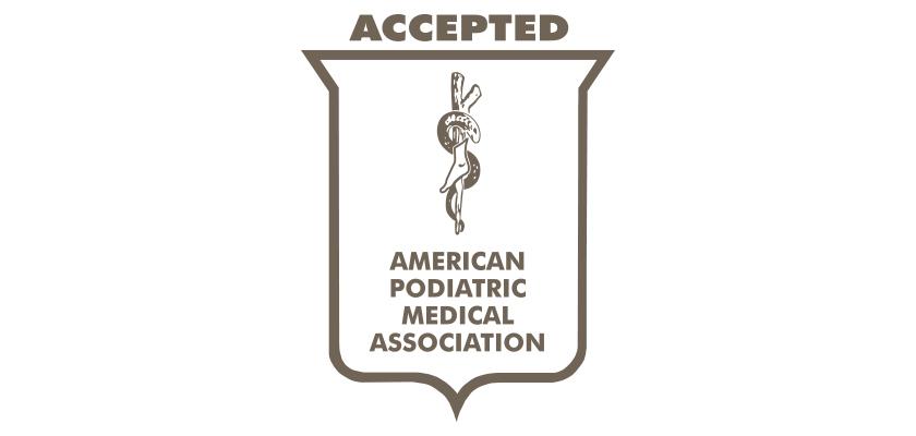 全米足病医学協会(APMA)の認証ロゴ