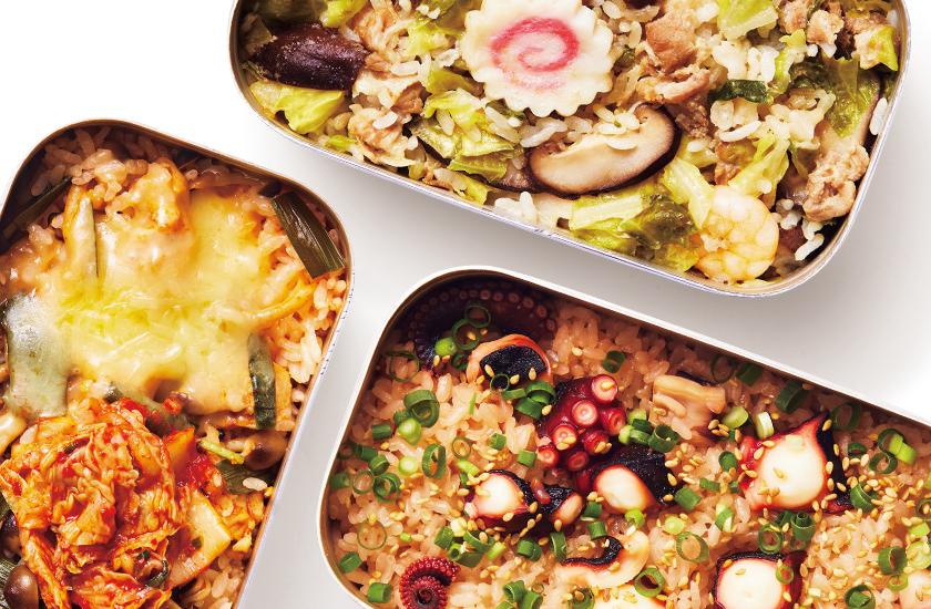 鍋キューブでメスティン飯