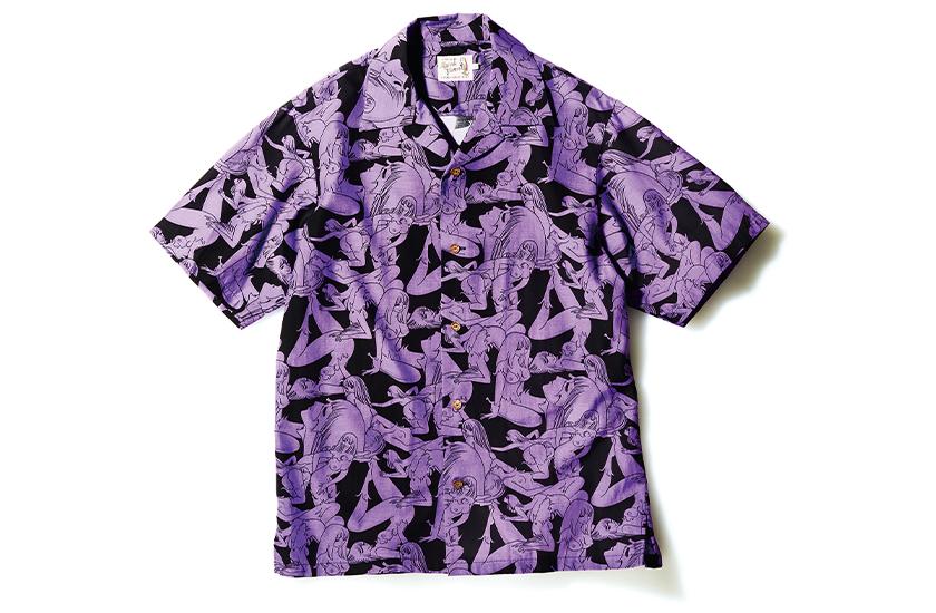 HYSTERIC GLAMOUR 手塚治虫×ヒステリックグラマーのオープンカラーシャツ