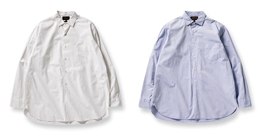 BEAMS PLUS レギュラーカラー ブロードシャツ
