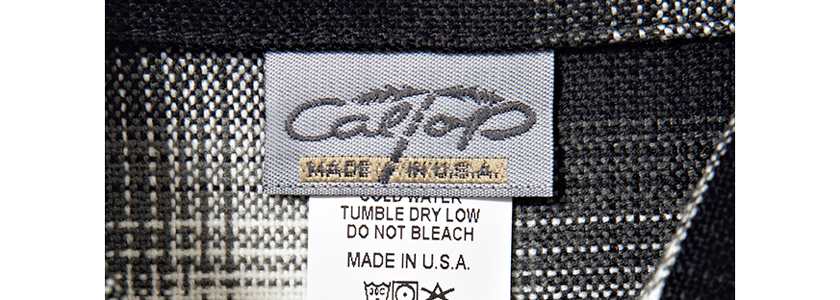CALTOP キャルトップ 米国製を記したタグ