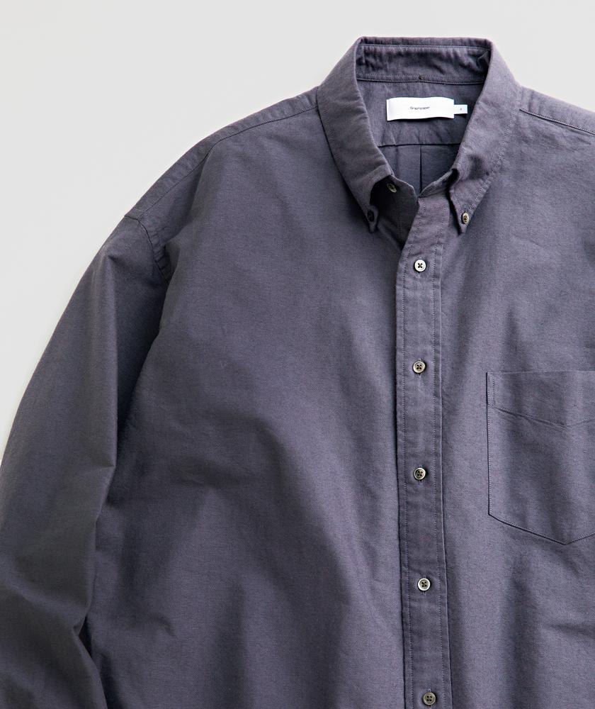 Graphpaper グラフペーパー オックスフォード B.D. ボックスシャツ