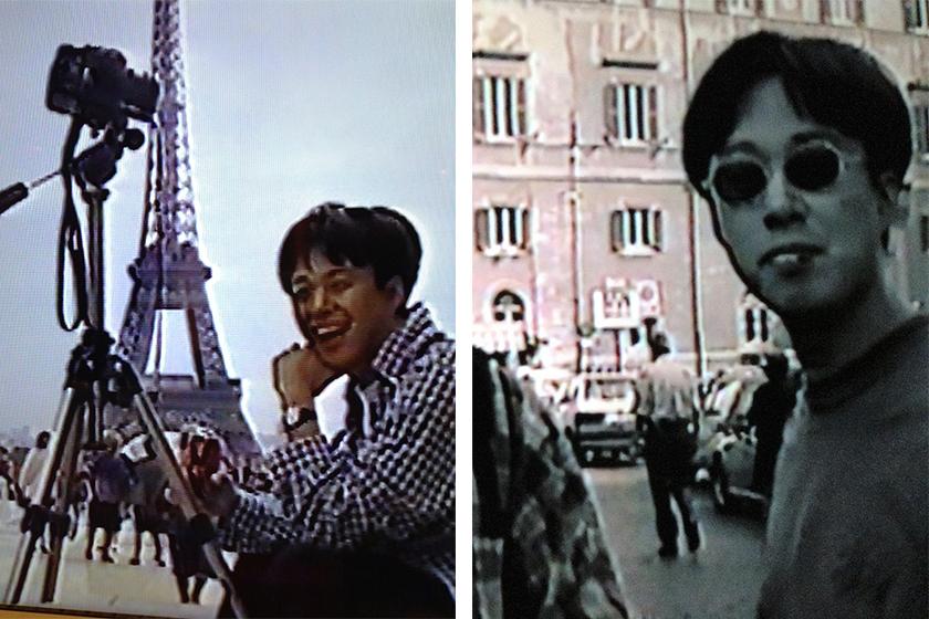パリで撮影した当時30歳の本間昭光